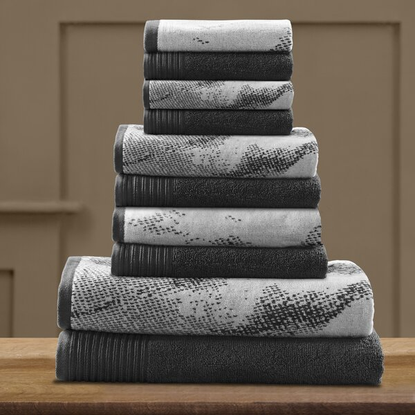 Pressman 10 Piece 100% Cotton Towel Set by Trent Austin Design